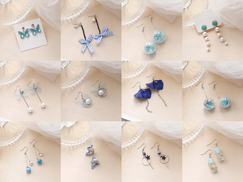 Blue earings
