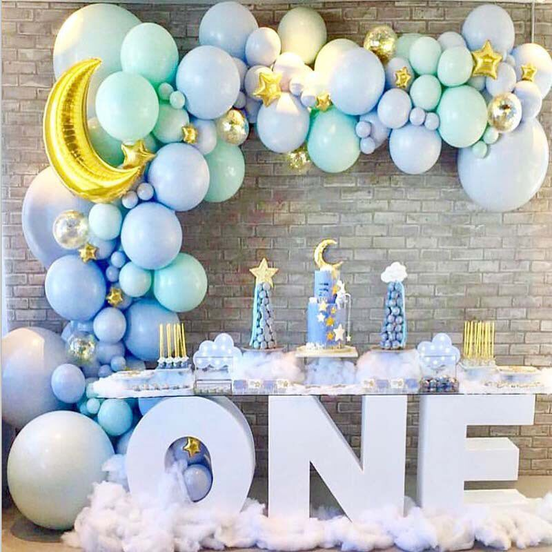 blue balloon garland arch kit