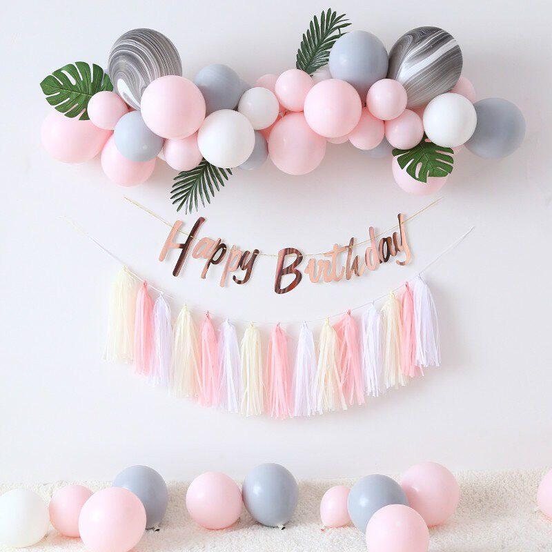 DIY happy birthday balloons arch garland kit arch garland