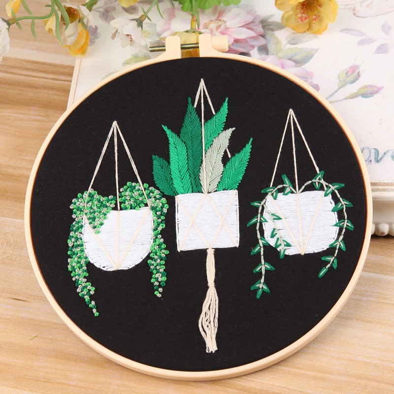 patterned embroidery