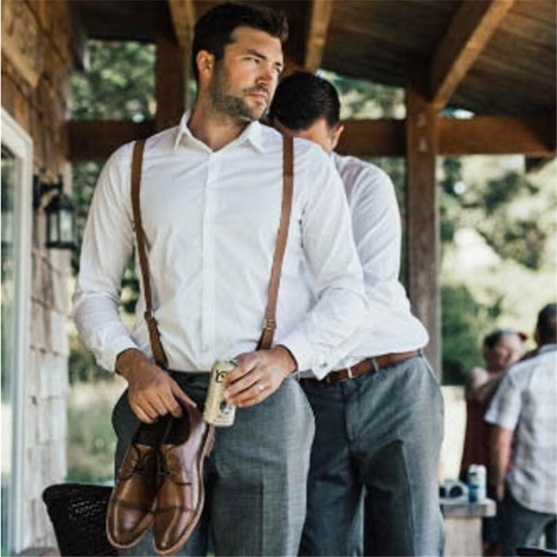 leather suspenders for men